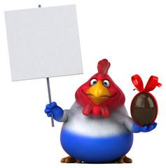 Fun chicken - 3D Illustration © Julien Tromeur