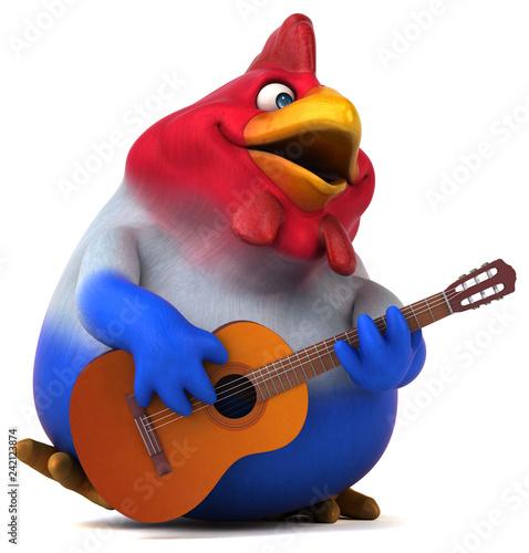 Fun chicken - 3D Illustration - 242123874
