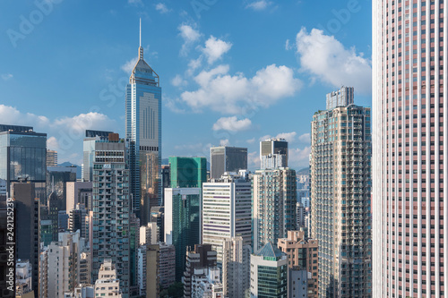 Foto Murales Skyline of midtown of Hong Kong city