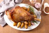 lamb leg and sauce - 242129813