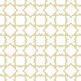 Seamless geometric vector pattern in oriental style in gold - 242143036