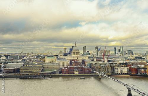 Foto Murales view of city of london