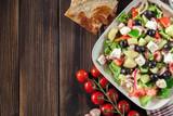 Greek salad with fresh vegetables - 242145228