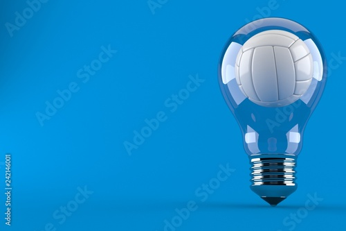 Volleyball inside light bulb