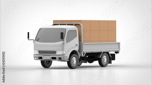 ダンプカーと荷物