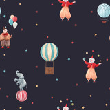 Watercolor circus vector pattern - 242171626