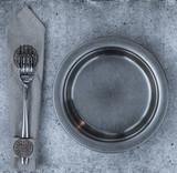 prison plate on concrete background - 242184477