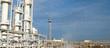 Leinwanddruck Bild - Oil refinery. Equipment for primary oil refining