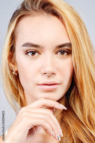 Leinwanddruck Bild face blonde girl