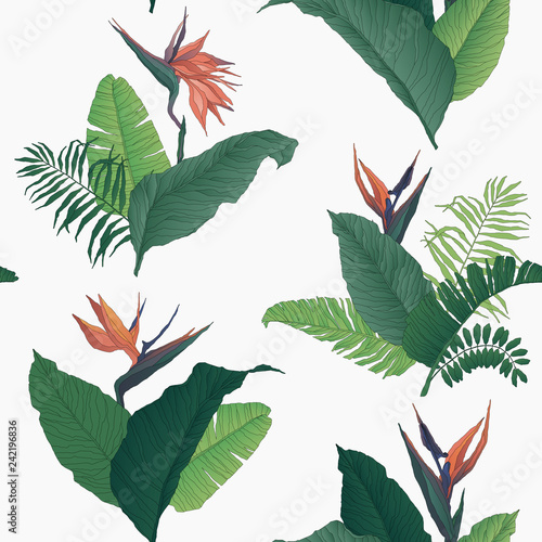 Tropical Floral Seamless Pattern © Ingk