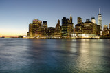 View of Lower Manhattan at sunset from Brooklyn, New York City - 242202664