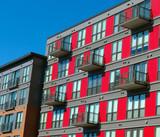 Modern apartment building facade - 242223216