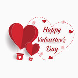 Happy valentine day. with creative love composition of the hearts. Vector illustration - 242228093