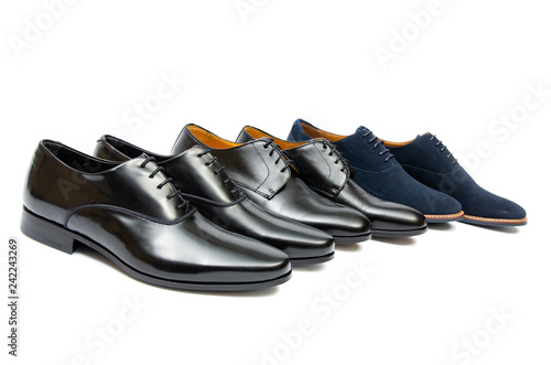 Foto Murales Black shoes isolated on white background