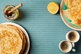 Staple of yeast pancakes, traditional for Russian pancake week - 242246002