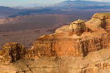 landscape and nature concept - aerial view of grand canyon cliffs from helicopter