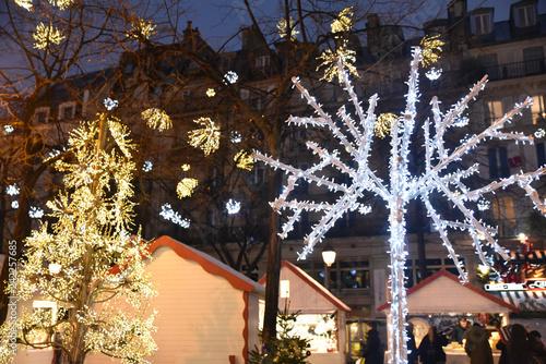 Foto Murales Marché de Noël lumineux