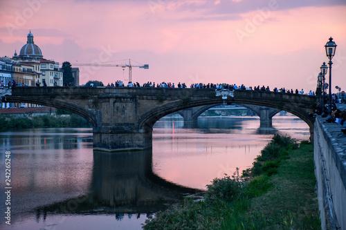 Foto Murales Coucher de soleil de Florence