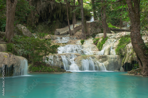 Erawan waterfall, Thailand - 242267820