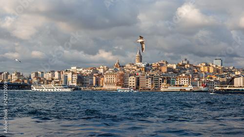 Foto Murales Galata Tower in Istanbul, Turkey