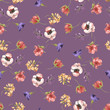 Seamless floral pattern, tileable pattern, textile, fashion background with flowers - 242276633
