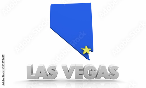 Las Vegas Nv City State Map 3d Illustration Buy Photos Ap Images