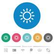 Brightness control flat round icons