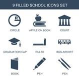 school icons - 242286804