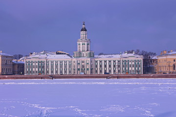 View from the city of St. Petersburg in the winter