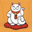 white maneki neko talisman cat - 242291454