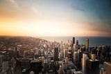 new york skyline at sunset - 242302021