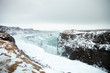 Frozen Waterfalls At Gullfoss In Iceland - 242306459
