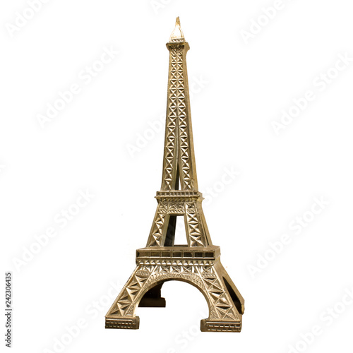 Sticker Tour Eiffel en métal doré