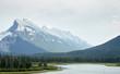 Leinwanddruck Bild - River Running Through Wooded Valley Between Mountains In Alaska