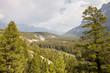 Leinwanddruck Bild - View Over River In Wooded Valley Between Mountains In Alaska