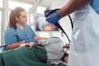 Leinwanddruck Bild - Team von Ärzten bei Magenspiegelung im Krankenhaus