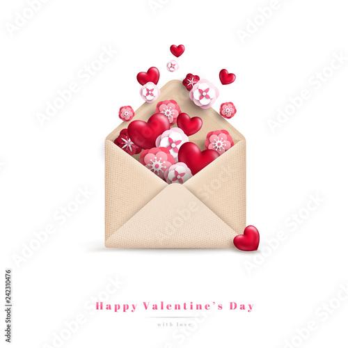 Valentines Day gift envelope