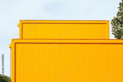 Baustelle, Oranger Container