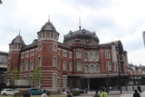 Building of old railway station in Tokyo city