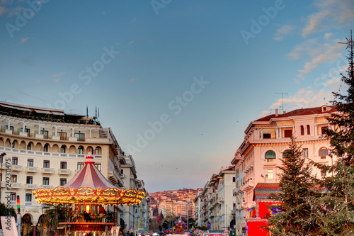 mata magnetyczna Thessaloniki twilight, Greece