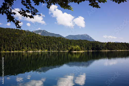 Pictorial landscape with beautiful lake in mountains - 242312242