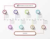 Infographic design template. Timeline concept with 8 steps - 242312657