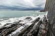 Coast of black sea. Rock of the Kisilev.