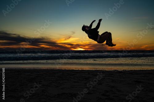 backflip over the sunset