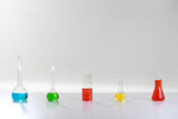 flasks with colored liquids - 242327628