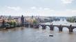 Prague Charles Bridge from above