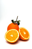 Fresh Oranges on white background - 242339266