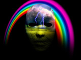 Mask and rainbow - 242341075