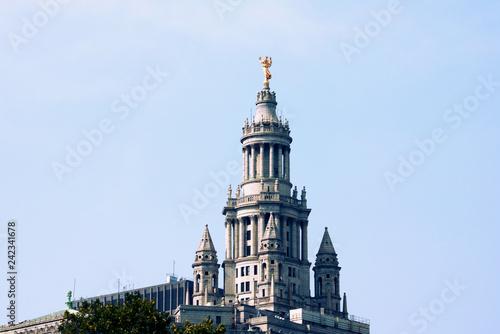Leinwanddruck Bild New York, USA - September 2, 2018: City Hall in New York, USA.