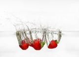 fallen strawberries